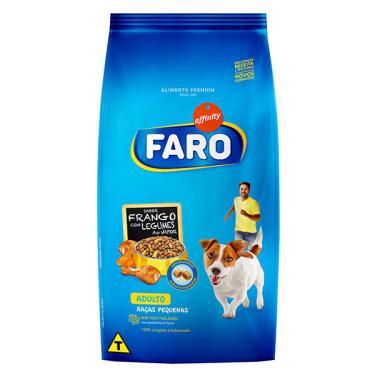 Ração Guabi Faro Raças Pequenas Frango com Legumes e Nuggets Recheados para Cães Adultos - 10,1 Kg