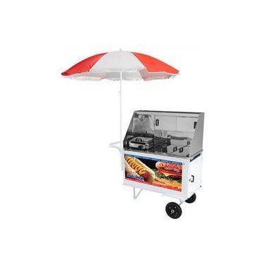 Carrinho Ambulante Hot Dog + Lanche Luxo Chapa Prensa Xdlm007 Armon