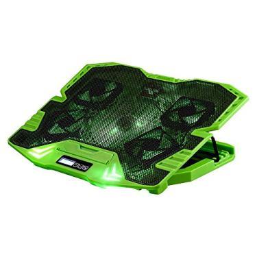 Imagem de Master Cooler Gamer Verde Com Led Warrior, Suporte de Notebook - AC292, 30 x 37 cm