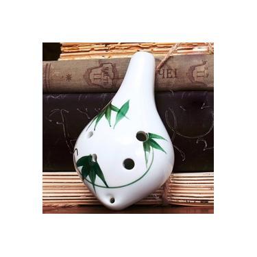 Iniciantes ceramicos 6 furos Ocarina flauta Alto C AC Ceramica musicalinstrument