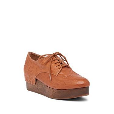 Kelsi Dagger Brooklyn Jamie Sapato plataforma de cadarço Derby Tan, Couro bronzeado, 9.5