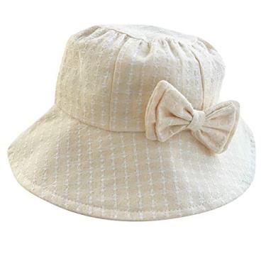 SOIMISS Chapéu de sol respirável Proteção UV ao ar livre Chapéu de pescador de verão Chapéu de proteção solar de praia para bebê infantil (bege)