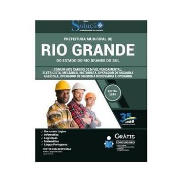 Imagem de Apostila Rio Grande Rs - Comum Cargos De Nível Fundamental