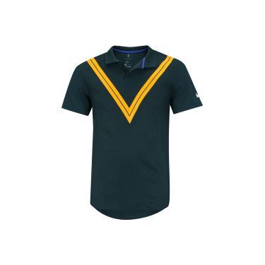 f5b0b3a70 Camisa Polo Nike Court Rafa Advantage - Masculina - Verde Esc Laranja Nike