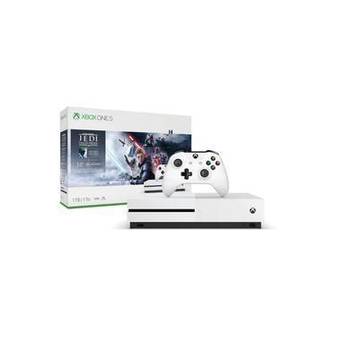 Console Xbox One S 1tb 4k 1 Controle Wireless Pacote Star Wars Jedi: Fallen Order - Microsoft