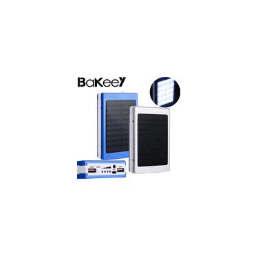 Qualidade Goog Bakeey 5x18650 Dual USB Solar Energy Camping Lanterna 20000 mAh Battery Case Power Bank Box 3 cores