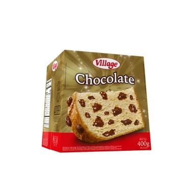 Chocottone com Gotas de Chocolate Village 400g
