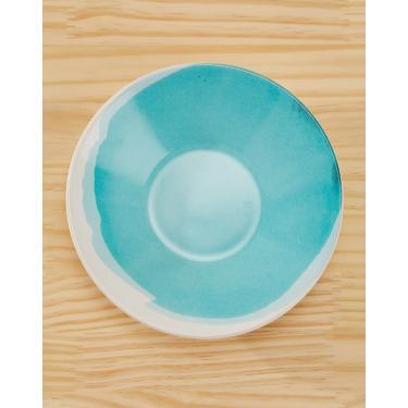 Imagem de conjunto c/ 6 pratos fundo aquarela