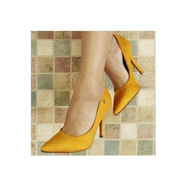 Sapato Scarpin Vizzano Amarelo Feminino 1184-101-5972