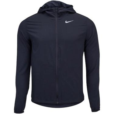 Jaqueta Corta Vento Nike Run Stripe Woven Masculina CU5353-010, Cor: Preto, Tamanho: M