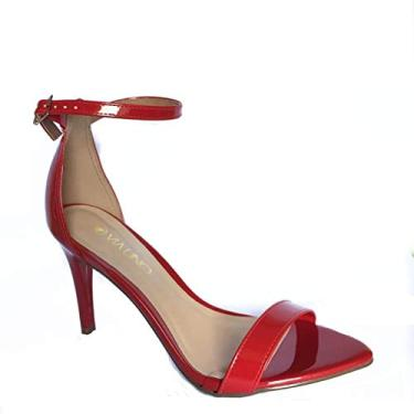 Sandália Salto Fino Feminina Via Uno Vermelho