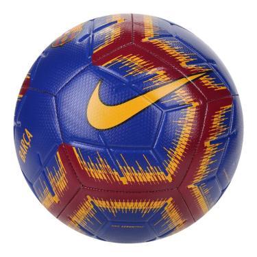 Bola de Futebol Campo Nike Barcelona Strike SC3993-455, Cor: Azul Marinho/Amarelo, Tamanho: 5