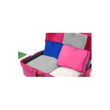 Kit organizador de malas Rosa 5 peças