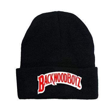 2020 Unissex Backwoods Chapéus de Malha Punho Sólido Gorro Gorro Quente Inverno para Homens e Mulheres Chapéu Moderno Backwoods, Preto, tamanho �nico