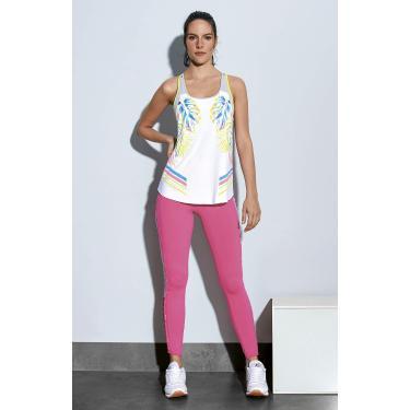 Alto Giro Legging New Zeland Roletes e Bolso Feminino,P, Rosa Flor