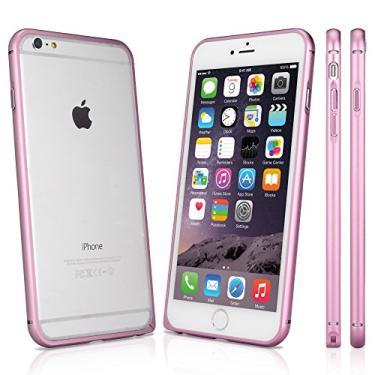 Capa para iPhone 6S Plus, BoxWave [Capa Quantum] Alumínio metálico reforçado para iPhone 6 Plus / 6s Plus (rosa blush)