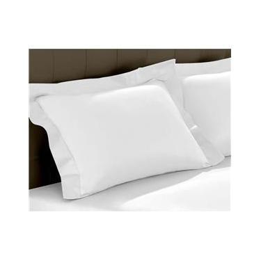 Imagem de Fronha Satinée Percal 300 Fios para Travesseiro 0.50x0.70m - Kacyumara - Branca