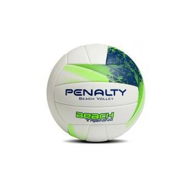 Bola oficial de Volei de Praia - Beach Training - Branca Verde - Penalty - 4c26d6b3ffedf
