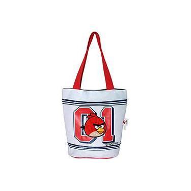 Tote Bag Dupla Face Angry Birds Cinza/Branco - Santino
