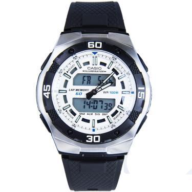 7ba0bf16263 Relógio Masculino Casio Anadigi AQ-164W-7AVD - Preto Prata