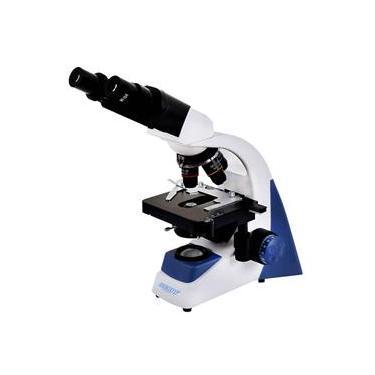 Microscópio Biológico Binocular c/ Aumento de 40x a 1.600x LED 3W