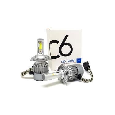Par Lâmpadas Automotiva H4 Super Led C6 Cooler 6000k 7200 Lumens Full Branca