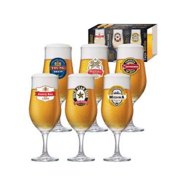 Jogo de Taças para Cerveja Vidro 330ml 6 Peças - Ruvolo Happy Hour Ber