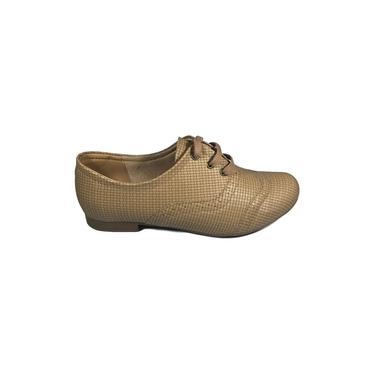 Sapato Oxford Femino Renata Della Vecchia Bege conforto