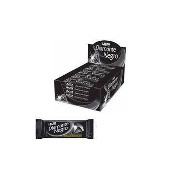 Chocolate em Barra Diamante Negro Lacta 20g Pack 20 Unidades