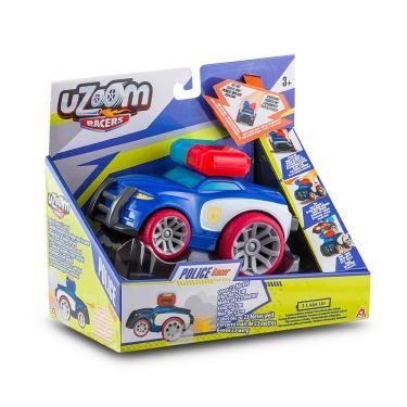 Imagem de Carrinho de Fricção Uzoom Polícia Sport Racer Azul Multikids - BR1173 BR1173