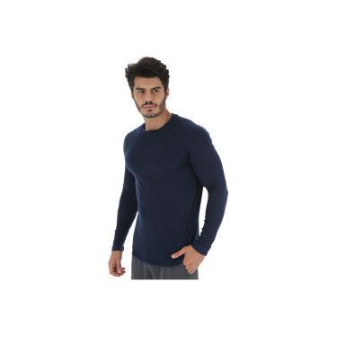Camisa Térmica Segunda Pele Manga Longa Nord Outdoor Under Basic - Masculina  - AZUL ESCURO Nord 4356492a051