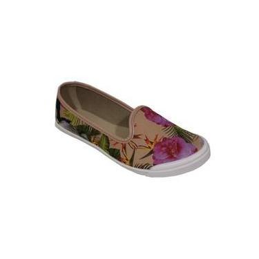 7ab7e3bf78 Sapato Casual Tecido Floral Moleca 5109 440