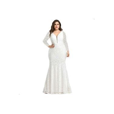 Vestido Longo Plus Size Casamento Festa Noiva Civil Madrinha
