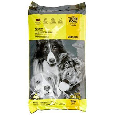 Ração Three Dogs Biofresh Para Cães Adultos de Médio e Grande Porte Sabor Frango, Carne e Arroz, 10,1kg