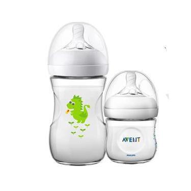 Imagem de Kit 2 Mamadeira Bebê Anticolica 125/260ml 1m+ Bico Ultra Suave Flexivel Pétala Philips Avent Dragão Neutro
