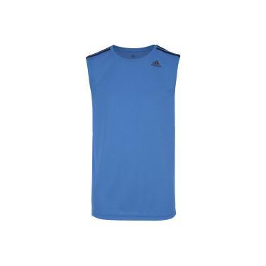 8caaa03a87 Camiseta Regata adidas D2M 3S - Masculina - AZUL PRETO adidas