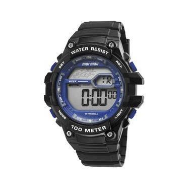 d0591b22d30 Relógio Digital Mormaii Silicone a Prova D`água Wave MO3480A 8A Masculino  Preto