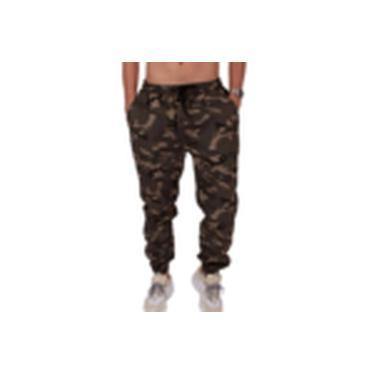 Calça Jogger Militar Marrom Camuflada G