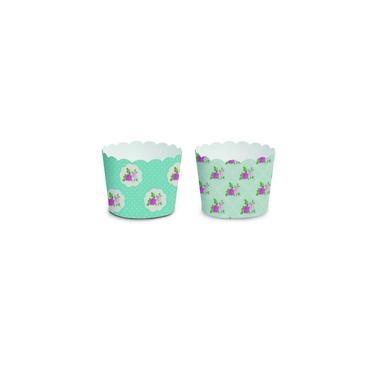 20 Kit Forminhas Cupcake S/Tampa Sortido Floral Azul Decoracao Festas