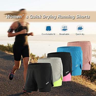Yorten Men's 2-in-1 Shorts de corrida Rápido Secagem Breathable Active Training Exercício Jogging Ciclismo Shorts com Longer Liner