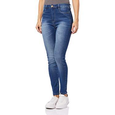 Calça Legging Cinta Push Up Super Lipo, Feminino, Sawary Jeans, Indigo, 42
