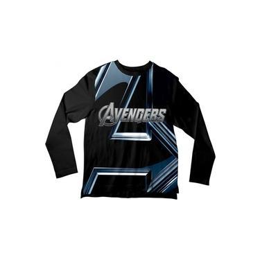Camiseta Infantil Avengers Preta ML