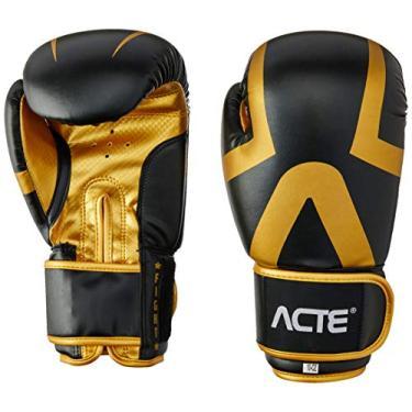 Acte P13 Luva Boxe Premium, Adulto Unissex, 10, Preto e Dourado