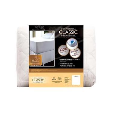 Imagem de Protetor de Colchão Fibrasca Classic para Mini Cama em Poliéster Impermeável 42 x 70 x 150 cm – Branco