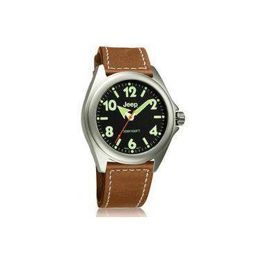 8a7df140dda Relógio De Pulso Masculino Jeep JE4050 Caixa Aço Pulseira Silicone