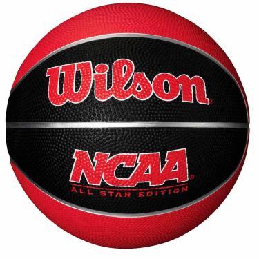 Bola de Basquete Wilson NCAA Mini Preta e Vermelha 1025287 6a50837d71821