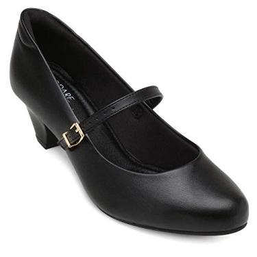 Sapato Boneca Modare Salto Grosso Baixo De Uniforme 7005.Feminino Preto