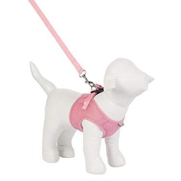 Peitoral Urban Puppy para Cães Colete Aerado Rosa - Tamanho G