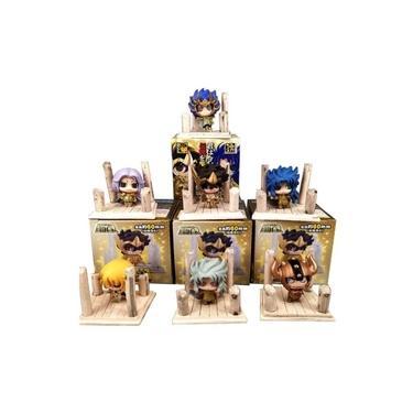 Kit 7 Mini Action Figure Cavaleiros Do Zodíaco Saint Seiya