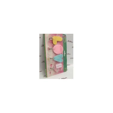 Cabide de parede cabideiro chave colorido cozinha 4 ganchos metal